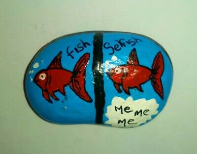 Hand painted rock/pebble gift