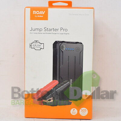 Anker Roav Jump Starter Pro For Larger Engines 800A Peak With SOS Flashing LED