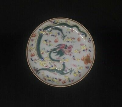 Assiette En Porcelaine De Chine Decor De Dragon Chinese Porcelain Daoguang Mark
