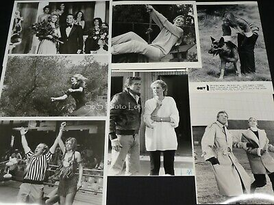 "7 x TV Press Kit Photos ~ 8x10 ""The Bionic Woman"" Linsday Wagner + TV Movies"