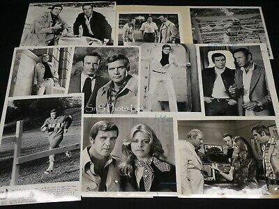 "10 x TV Press Kit Photos ~ 8x10 ""The Six Million Dollar Man"" Lee Majors + Bionic"