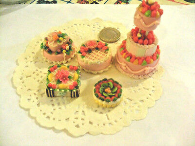 mini cakes reproduction set of 5 hand-made re-ment blythe dolls japan kawaii n°2