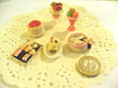 mini cakes reproduction set of 5 hand-made re-ment blythe dolls japan kawaii n15
