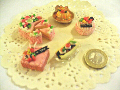 mini cakes reproduction set of 5 hand-made re-ment blythe dolls japan kawaii n°9