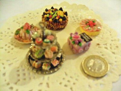 mini cakes reproduction set of 5 hand-made re-ment blythe dolls japan kawaii n°8