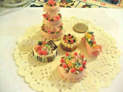 mini cakes reproduction set of 5 hand-made re-ment blythe dolls japan kawaii n°4