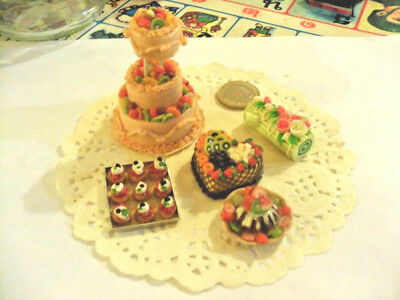mini cakes reproduction set of 5 hand-made re-ment blythe dolls japan kawaii n°3