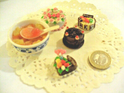 mini cakes reproduction set of 5 hand-made re-ment blythe dolls japan kawaii n°6