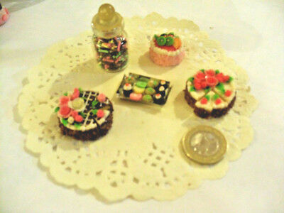 mini cakes reproduction set of 5 hand-made re-ment blythe dolls japan kawaii n12