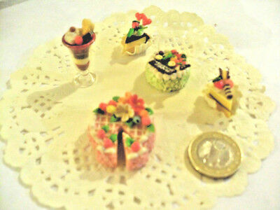 mini cakes reproduction set of 5 hand-made re-ment blythe dolls japan kawaii n14