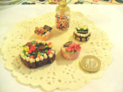 mini cakes reproduction set of 5 hand-made re-ment blythe dolls japan kawaii n11