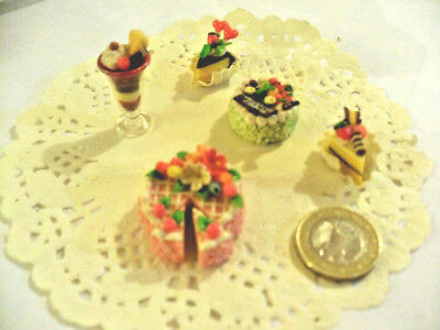 mini cakes reproduction set of 5 hand-made re-ment blythe dolls japan kawaii n13