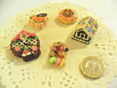mini cakes reproduction set of 5 hand-made re-ment blythe dolls japan kawaii n10