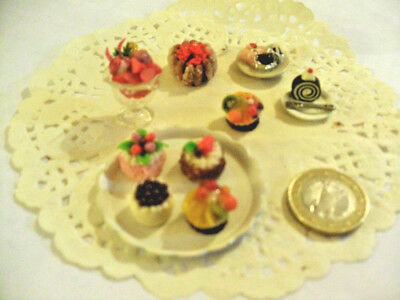 mini cakes reproduction set of 5 hand-made re-ment blythe dolls japan kawaii n16