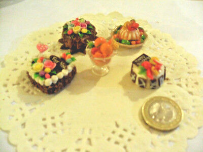mini cakes reproduction set of 5 hand-made re-ment blythe dolls japan kawaii n°7
