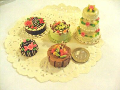 mini cakes reproduction set of 5 hand-made re-ment blythe dolls japan kawaii n°5
