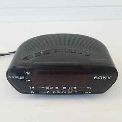 Sony Dream Machine Model ICF-C211 AM/FM Digital Alarm Clock Radio