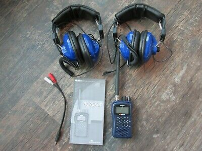 Uniden BC95XLT Scanner Pair Racing TP-60 Headphones Police Fire EMS