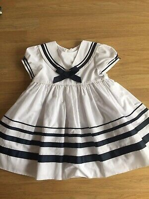 Sarah Louise Sailor Girls Dress 18 Months 🌈