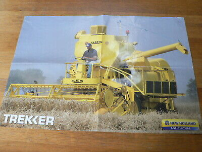 A578 Claes New Holland Agriculture Combine Tractor Trekker  Poster Agri Boer