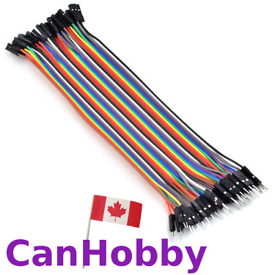 40pcs Dupont 10/20cm Jumper Wire Ribbon Cable for Arduino Rasp Pi - CanHobby