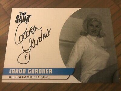 The Saint Series 2 Caron Gardner As Hat-Check Girl CG2 Autograph Card