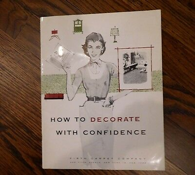 How to Decorate with Confidence Magazine  1956 Vintage