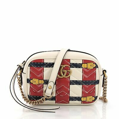 7042b9aa59d Gucci GG Marmont Shoulder Bag Limited Edition Printed Matelasse Leather Mini