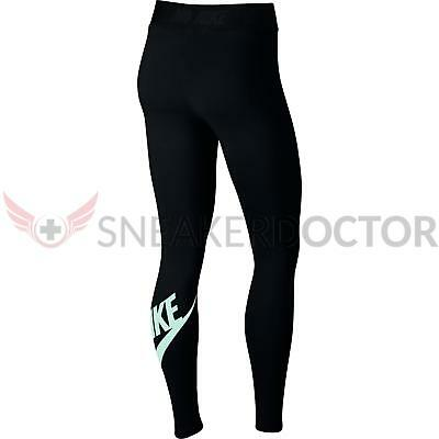 9a36ee4b8809e NEW NIKE WOMENS Leg-A-See Logo Legging Black/Igloo Blue All Sizes ...