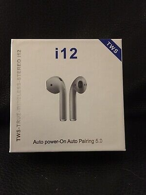 i12 TWS Earphones BEST CLONE FOR AIRPODS 1:1