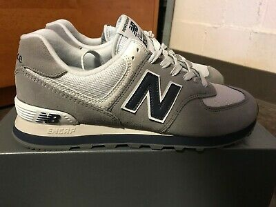 sale retailer dd4b6 96b29 NEW BALANCE MEN'S 574 Core Plus Shoes Grey with Navy BRAND NEW NEVER WORN
