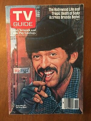 1983 Vintage Hill Street Blues (Bruce Weitz) TV Guide - Excellent Condition