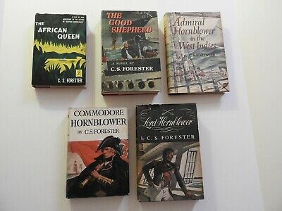 5 Vintage C.s. Forester Hardcover Books African Queen Horatio Hornblower Saga
