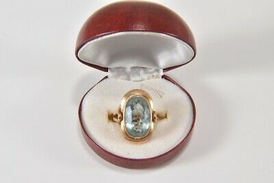 i37n15- Ring 585er Gold mit Aquamarin