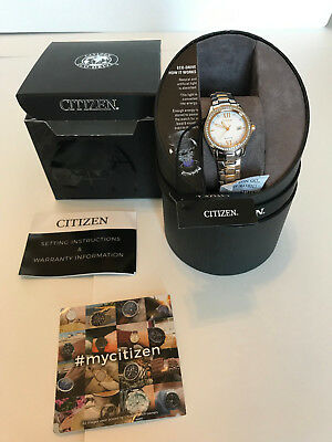 Women's CITIZEN Eco Gold/Silver 30mm Stainless Steel Silhouette Crystal Watch