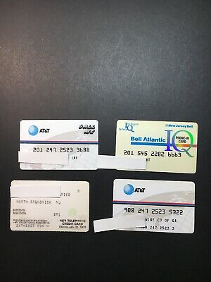 4 Vintage Expired Credit Cards For Collectors - Phone Theme Lot 1 (3227)