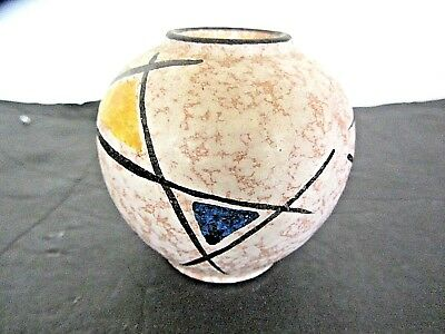 Uebelacker U-Keramik Mid Century West German Art Pottery Vase 359-7