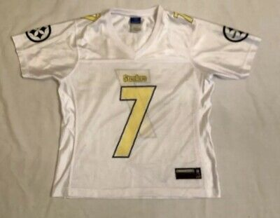 67f09aa65 Pittsburgh Steelers Reebok Women s NFL White Roethlisberger Jersey Size  Medium