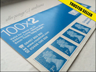 100 x New GENUINE 2nd Class Stamps Self Adhesive UK Postage Second Stamp GR8 BUY