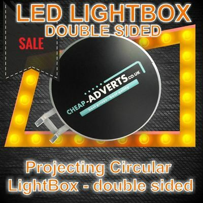 Double-Sided Outdoor Circular Illuminated Projecting  Light Box 80cm !!!
