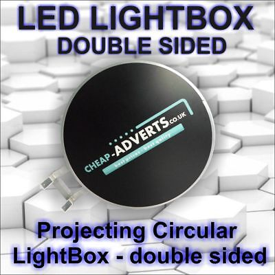 Double-Sided Outdoor Circular Illuminated Projecting  Light Box 600mm !!!