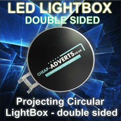 LED Round LightBox double sided 800mm GREAT OFFER !!