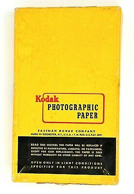 "100 Kodak Velox F-2 Single Weight Photographic Paper New In Box 3 1/2"" x 5 1/2"""