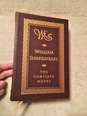 The Complete Works of William Shakespeare, LEATHER Bound Barnes & Noble 1994 NEW