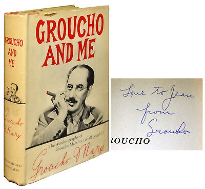 Groucho Marx / Groucho and Me Signed 1st Edition 1959