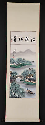 CHINESE HANGING SCROLL ART Painting Sansui Landscape  #E6595