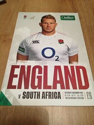Official Programme England V South Africa Quilter International 3 November 2018
