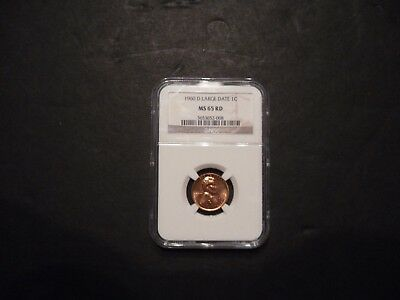 1960 D Lincoln Cent Large Date NGC MS65 RD