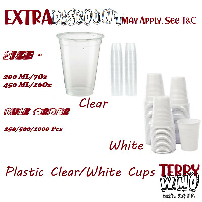 Party Plastic CupDisposable  Clear Reusable Drinking Water Cup 200ml 450ml Bulk