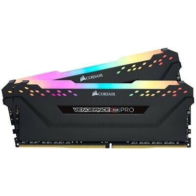 Corsair Vengeance RGB PRO 32GB 2x 16GB DDR4 3200MHz C16 Desktop Gaming Memory...
